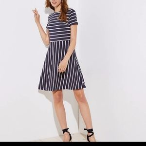 Loft  Fit & Flare Stripe Dress